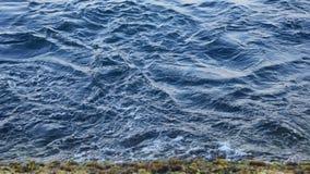Blauw overzees water Royalty-vrije Stock Afbeelding