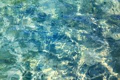 Blauw overzees water royalty-vrije stock foto