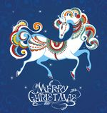 Blauw paard 2014 Stock Foto