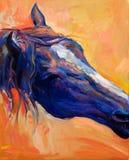 Blauw paard Royalty-vrije Stock Fotografie