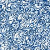 Blauw Paisley Royalty-vrije Stock Afbeelding