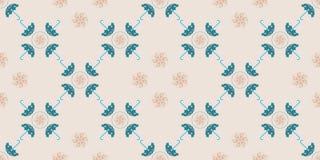 Blauw Paraplu Naadloos Patroon Voor ontwerp, behang, dekking inv Royalty-vrije Stock Foto's