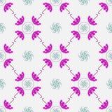 Blauw Paraplu Naadloos Patroon Voor ontwerp, behang, dekking inv Royalty-vrije Stock Foto