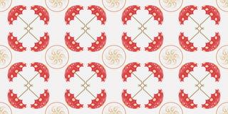 Blauw Paraplu Naadloos Patroon Voor ontwerp, behang, dekking inv Stock Foto's