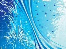Blauw patroon stock illustratie