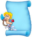 Blauw perkament 3 van de Valentijnskaart Royalty-vrije Stock Fotografie