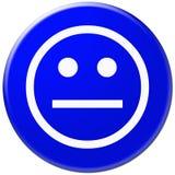 Blauw pictogram met symbool van gezicht Royalty-vrije Stock Foto's