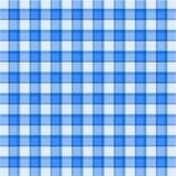 Blauw plaidpatroon stock illustratie