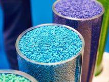 Blauw plastic korrelig polymeer royalty-vrije stock afbeelding