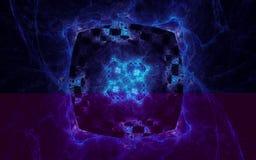 Blauw portaal in ruimte Royalty-vrije Stock Afbeeldingen