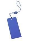 Blauw prijskaartje Stock Afbeeldingen