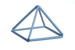 Blauw prisma Stock Fotografie