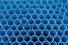 Blauw pvc leidt patroon door buizen Stock Fotografie