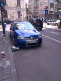 Blauw r32 VW Stock Fotografie