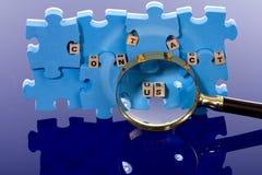 Blauw raadsel Stock Fotografie