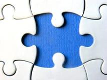 Blauw raadsel royalty-vrije stock foto