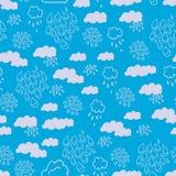 Blauw regenachtig wolkenpatroon Stock Fotografie