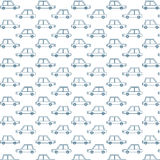 Blauw Retro Auto'spatroon Royalty-vrije Stock Fotografie