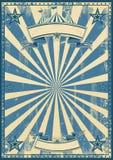 Blauw retro circus Royalty-vrije Stock Afbeelding