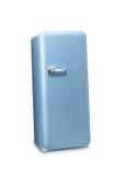 Blauw retro de koelkast 3d beeld Royalty-vrije Stock Afbeelding