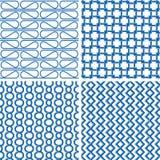 Blauw retro patroon Royalty-vrije Stock Foto