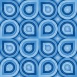Blauw Retro Patroon (blad) Stock Foto