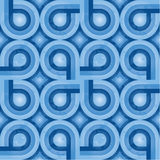 Blauw Retro Patroon (weefsel) Stock Fotografie