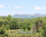 Blauw Ridge Mountain Landscape Stock Afbeeldingen