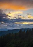Blauw Ridge Mountain Sunset Landscape Royalty-vrije Stock Afbeeldingen