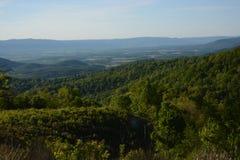 Blauw Ridge Mountains in de Zomer stock afbeeldingen