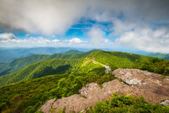 Blauw Ridge Parkway North Carolina Mountains in openlucht Toneel royalty-vrije stock afbeelding
