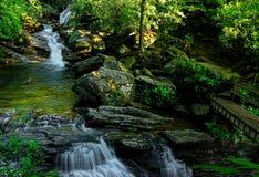 Blauw Ridge Parkway Skinny Dip Falls stock fotografie
