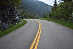 Blauw Ridge Parkway in Smokies stock fotografie