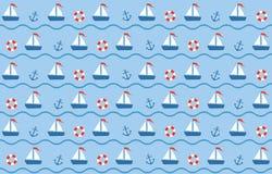 Blauw-rode naadloze overzees Stock Fotografie