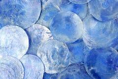 Blauw rond de cirkelpatroon van de moeder van parel Stock Afbeeldingen