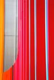 blauw rood abstract metaal in englan het traliewerkstaal van Londen en backg Royalty-vrije Stock Foto