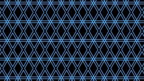 Blauw rooster van stroken van diamanten Geometrisch patroon stock illustratie