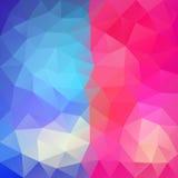 Blauw-roze abstracte veelhoekige achtergrond Stock Afbeelding