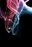 Blauw-roze rook Stock Foto