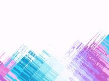 Blauw roze wit modern abstract fractal art. Achtergrondillustratie met kleurrijke loodrechte structuren Creatieve grafische tempe Royalty-vrije Stock Fotografie