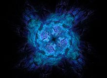 Blauw ruimteportaal Stock Afbeeldingen