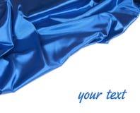 Blauw satijn Royalty-vrije Stock Foto's