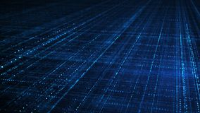 Blauw sc.i-FI netinformatietechnologie concept Stock Afbeelding