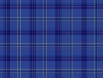 Blauw Schots geruite Schotse wollen stof Royalty-vrije Stock Foto's