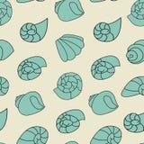 Blauw shell patroon op de grijze achtergrond royalty-vrije illustratie