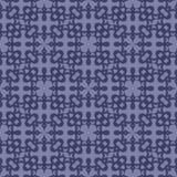 Blauw Sier Naadloos Lijnpatroon Stock Afbeeldingen