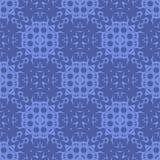 Blauw Sier Naadloos Lijnpatroon Stock Foto