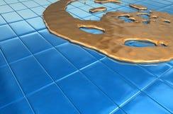 Blauw smeltingsgoud Royalty-vrije Stock Afbeeldingen
