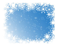Blauw sneeuwvlokkenframe Stock Foto's
