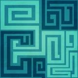Blauw spiraalvormig naadloos patroon Stock Foto